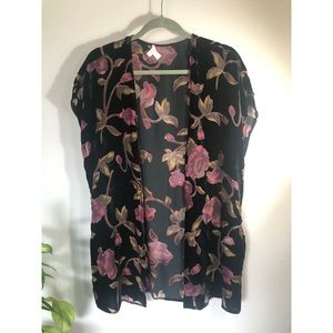 Velvet Burnout Kimono